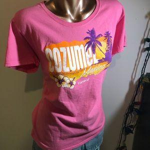 Pink Cozumel, Mexico t-shirt
